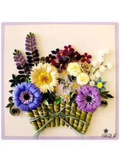 Quilled floral Quilling