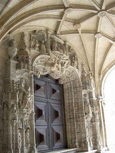 Belem door. Close to Lisbon
