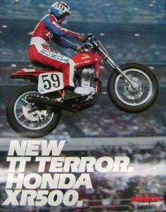 Micky Fay #59 on a factory Honda XR 500