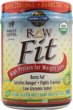 garden of life weight loss. Garden Of Life, Raw Fit, High Protein For Weight Loss, Marley Coffee Flavor, 16 Oz (443 G), Diet Suplements -ST | Health Pinterest Gardens, Life Loss F