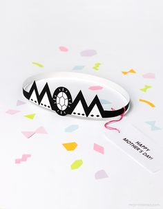Typography Tiara Mother's Day Card