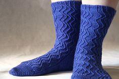 Time Stream Socks by Rachel Gibbs