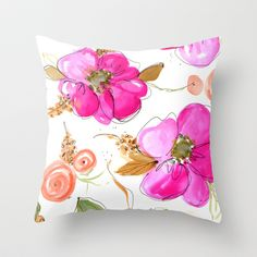 All-Pink Double Spring Floral Throw Pillow
