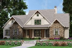 Farmhouse Style House Plan - 3 Beds 3.50 Baths 2743 Sq/Ft Plan #927-987 Exterior - Front Elevation