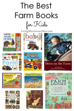 Recommendations of farm books for babies through elementary-age kids; nonfiction and fiction books for a farm unit. Includes a discussion of which books are Montessori friendly - Living Montessori Now Montessori Books, Montessori Activities, Book Activities, Montessori Classroom, Preschool At Home, Preschool Themes, Smiling Animals, Farm Animals, Farm Unit