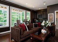 LOVE the dark tones throughout. #ModelHome