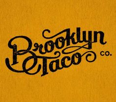 Brooklyn Taco Co. by Tag collective design logo typography