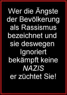 Wer die Ängste der Bevölkerung als Rassismus bezeichnet und sie deswegen ignoriert, bekämpft keine Nazis, er züchtet sie!