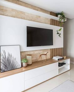 76 amazing tv wall design ideas for living room decor 64 Cozy Living Rooms, Living Room Modern, Home Living Room, Living Room Decor, Tv Stand Modern Design, Tv Stand Designs, Living Room Tv Unit Designs, Muebles Living, Tv Wall Decor