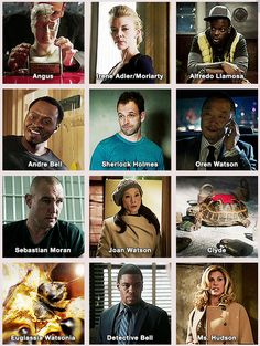 A grand group of all the main Elementary Characters as posted on my fav blog- Elementary,My Dear Watson part one--