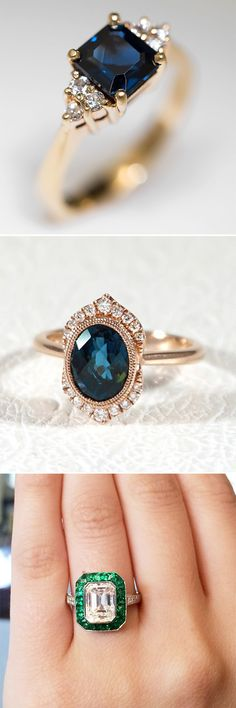 colored jewel tone engagement ring ideas