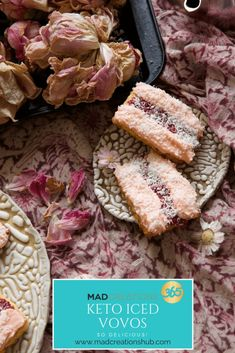 Mad Creations Keto Iced Vovo Biscuits are so simple but so delicious! A sugar free and gluten free biscuit that is out of this world. Click The Image To Learn Keto Friendly Desserts, Low Carb Desserts, Low Carb Recipes, Snack Recipes, Dessert Recipes, Keto Snacks, Banting Recipes, Breakfast Recipes, Dessert Ideas