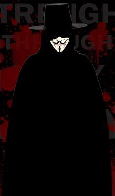 V from V for Vendetta, one of my fav movies of all times! +The Vendetta+ V For Vendetta Wallpapers, Joker Wallpapers, Guy Fawkes, Heros Comics, Dc Comics, Black Butler, V Pour Vendetta, Comic Art, Comic Books