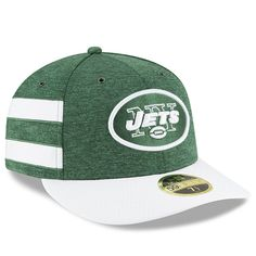Men s New York Jets New Era Green White 2018 NFL Sideline Home Official Low  Profile 59FIFTY Fitted Hat 659bc4016