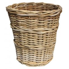 These Wicker Grey & Buff Round Rattan Waste Paper Bins are a robust and durable bin beautifully handmade from rattan. They have a lovely rustic look about them and their neutral tones would suit any room. Rattan, Wicker, Waste Paper, Home Organisation, Household, Rustic, Treehouse Ideas, Grey, Neutral Tones