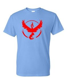 Pokemon Go Gym Team Valor Red Youth Short Sleeve Tee T-Shirt Blue Large, Boy's