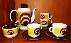 60er / 70er Seltmann Weiden W. Germany Porzellangeschirr Kaffeeservice
