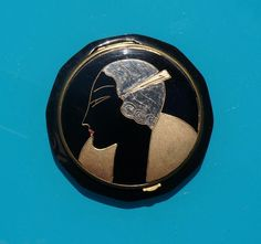 Beautiful Art Deco Antonin of France Celluloid Ladies Compact w/Face