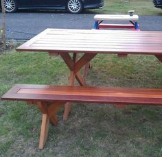 How to build a gorgeous picnic table for your family - step by step!