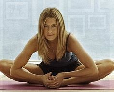 Love her. Jennifer Aniston Yoga.
