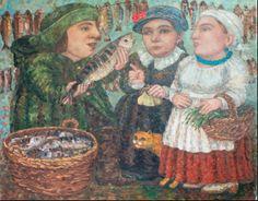 artist Kallistova Elena, Fish market
