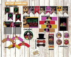 Five Nights at Freddy's Ultimate Party Pack PLUS Invitation INSTANT DOWNLOAD Printable