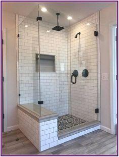 Shower Floor Tile, Rain Shower Bathroom, Master Bathroom Shower, Small Master Bathroom Ideas, Bathroom Floor Plans, Bathroom Shower Designs, Diy Shower, Guys Bathroom, Master Bath Tile
