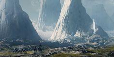 Marble Mountains, Kenneth Doronin on ArtStation at https://www.artstation.com/artwork/eQeBX