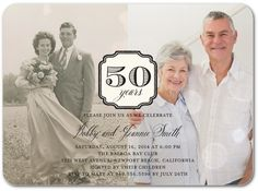 Enduring Union - Anniversary Invitations in Black or Ash | Wiley Valentine