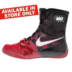 Nike Hyper KO Boxing Shoes V2 - Black   Red Fitnesz Felszerelés bedc9ae81d