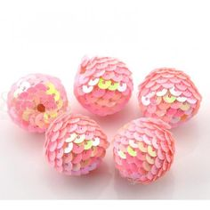 Wholesale Pink AB Color Handmade Round Acrylic Woven Beads (Wrapped With Paillette) Dia. from China Supplier Acrylic Beads, Abs, China, Handmade, Color, Crunches, Hand Made, Colour, Abdominal Muscles