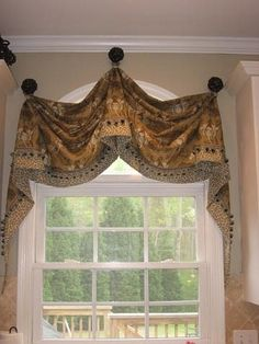 Image result for arched window seat swag