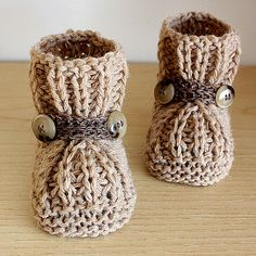 This is a Knitting PATTERN Warm Feet Baby Booties