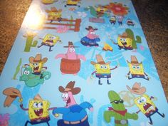 Adorable Sponge Bob Stickers