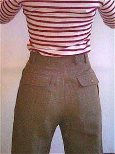 Convert Men's suit pants into Women's slacks