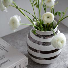 Omaggio vase i sølv fra Kähler | flere størrelser