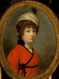Kazimierz Wojniakowski, Polish noblewoman, wearing tiara or jeweled filet & turban.C.1800