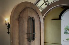 Cork Oak Entry Door Entry Doors, Candle Sconces, Cork, Wall Lights, Candles, Lighting, Projects, Home Decor, Log Projects