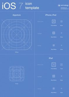 FREE Download iOS7 icons app template. The archive file (ZIP) contain PSD, AI, EPS formats! http://www.deviantart.com/users/outgoing?http://www.andrixdesign.com/works/ios7-app-icons-template/