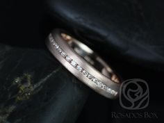 Oona 14kt Rose Gold Satin Finished Puffy Channel Set Diamond HALFWAY Eternity Band (Other Metals and Stone Options Available)