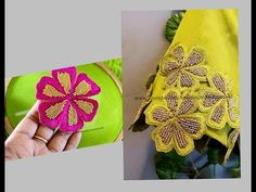 Most Beautiful Cut Work Design making using Normal Stitching Needle- Same Like Aari/ Maggam work Cutwork Blouse Designs, Patch Work Blouse Designs, Wedding Saree Blouse Designs, Fancy Blouse Designs, Hand Embroidery Videos, Hand Work Embroidery, Embroidery On Clothes, Creative Embroidery, Indian Embroidery Designs
