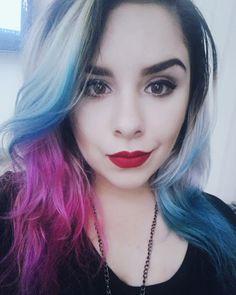 Thalya Beloti: Tutorial Cabelo da Arlequina #tutorial #diy #cabeloscoloridos…