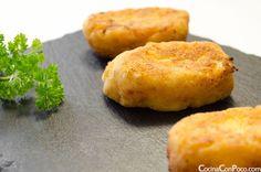 Croquetas de pollo y huevo - Receta paso a paso