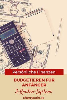 Kennst du das? Dukommst hinten und vorne nicht mit deinen Finanzen zusammen. Deine Verzweiflung steigt, und du willst deinen Kopf einfach in den Sand stecken. Stopp – kein Grund zur Panik! Dein bester Freund in diesem Moment ist ein Budget! Das 3-Konten-System ist perfekt für Einsteiger.Du hast 3 verschiedene und unabhängige Konten. Mit diesen verwaltest du deine Fixkosten, dein Sparen und deinen Spaß. #finanzen #budget #budgetieren #finanzenfüranfänger #persönlichefinanzen Budget, Finance, Tips And Tricks, Simple, Budgeting