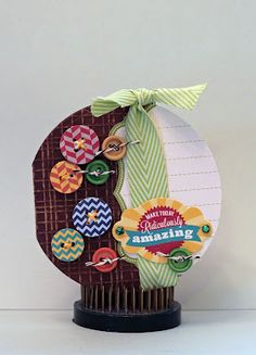Make Today Ridiculously Amazing Card by Char Dobson using Jillibean Soup's Coordinating Cardstock Stickers, Pea Pod Parts, and Baker's Twine (via the Jillibean Soup blog).