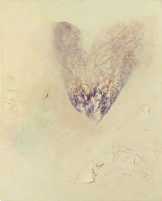 "Jay DeFeo, ""Last Valentine"" (1989). Oil on linen, 20 x 16 in. (50.8 x 40.6 cm). Private collection. (© 2012 The Jay DeFeo Trust / Artists Rights Society [ARS], New York; photo by Ben Blackwell)"