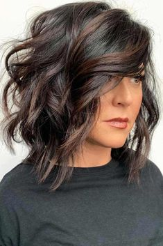 Side Parted Layered Lob ? Layered haircuts are very trendy and quite versatile. Furthermore, they are a grea. : Side Parted Layered Lob ? Layered haircuts are very trendy and quite versatile. Furthermore, they are a grea. Haircuts With Bangs, Layered Haircuts, Layered Lob, Hairstyles Haircuts, Woman Hairstyles, Simple Hairstyles, Holiday Hairstyles, Hairdos, Long Bob Haircuts With Layers