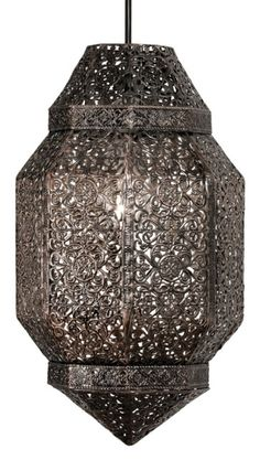 The Brompton lampshade has a Morrocan design with a warm antique copper finish. Matching table lamp available. Luxury Lighting