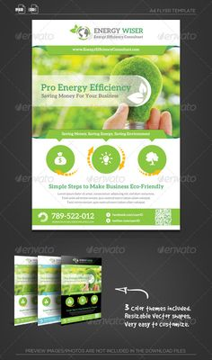 Buy Energy Efficiency Business Flyer by katzeline on GraphicRiver. Fully Layered Photoshop PSD or higher . Company Brochure, Brochure Design, Flyer Design, Energy Efficient Homes, Energy Efficiency, Corporate Flyer, Business Flyer, Business Cards, Logo Shapes