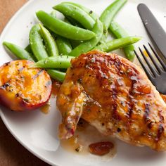 Grilled Chicken Breasts with Spicy Peach Glaze By Bobby Flay
